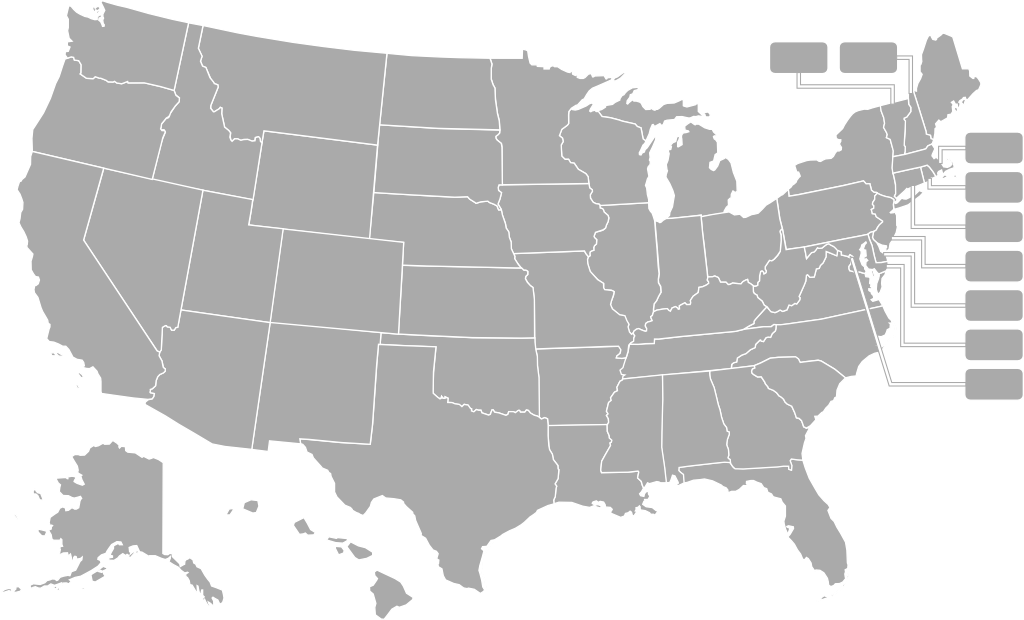 United States Map Of USA Hospitals By State TargetMap Map Of US - Map of united hospital dhaka